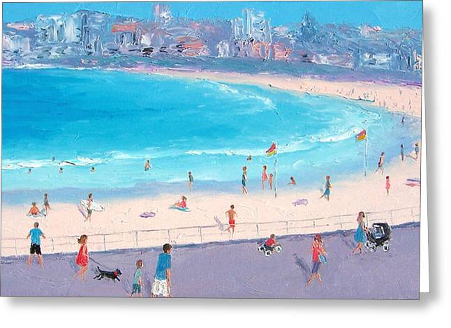 Beach Scenes Greeting Cards - Bondi in December Greeting Card by Jan Matson