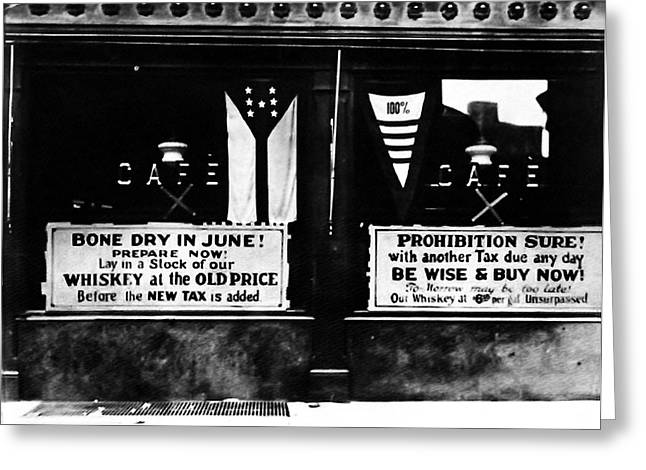 Bone Dry in June - Prohibition Sale Greeting Card by Bill Cannon
