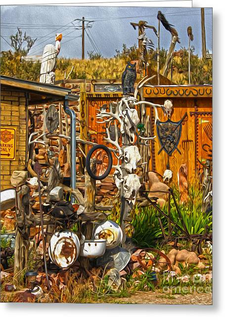 Bone Shack - 05 Greeting Card by Gregory Dyer