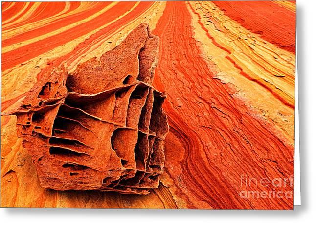 Vermillion Greeting Cards - Bone Yard Rocks Greeting Card by Inge Johnsson