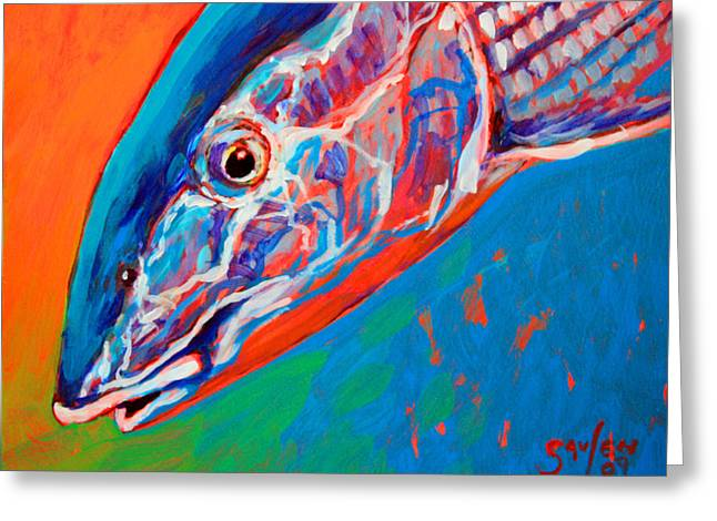 Bonefish Closeup Greeting Card by Mike Savlen