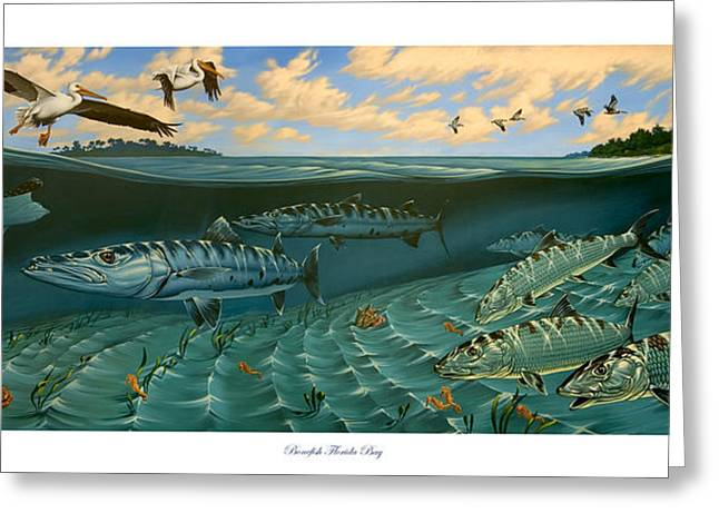 Philip Slagter Paintings Greeting Cards - Bonefish Florida Bay Greeting Card by Philip Slagter