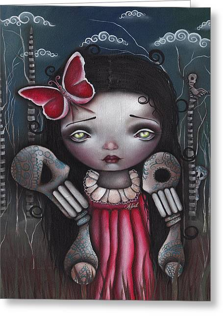 Mexican Artists Greeting Cards - Bones Butterflies and Dreams Greeting Card by  Abril Andrade Griffith