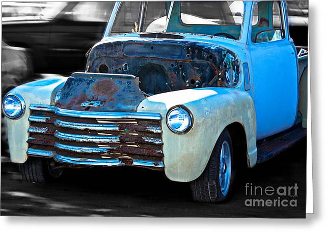 Old Trucks Greeting Cards - Bones of a Drunken Truck  Greeting Card by Steven  Digman