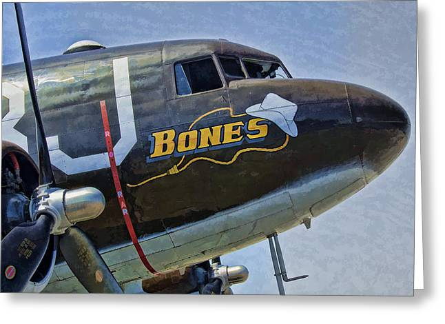Dc3 Greeting Cards - Bones Greeting Card by Steven Richardson