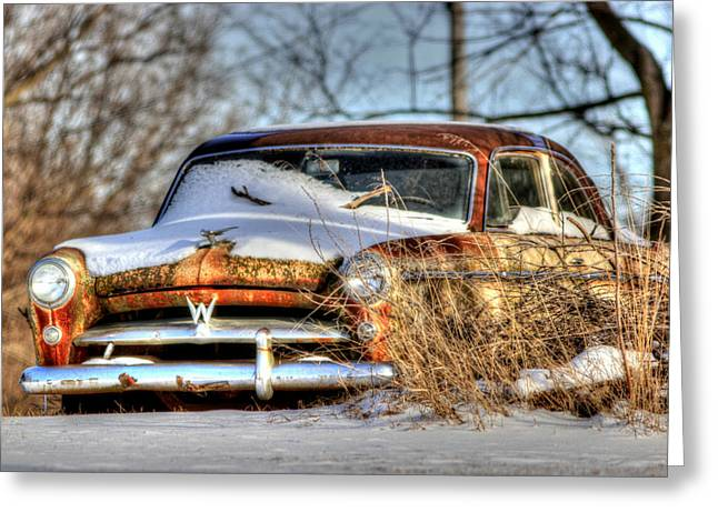 Old Relics Greeting Cards - Boneyard Color Greeting Card by Thomas Danilovich