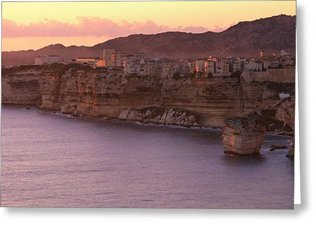 Stratum Greeting Cards - Bonifacio Corsica France Greeting Card by Panoramic Images