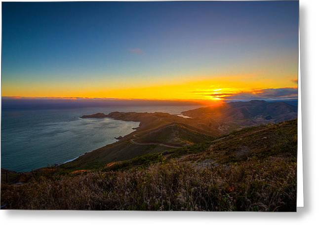 Marin County Greeting Cards - Bonita Cove Greeting Card by Mike Lee