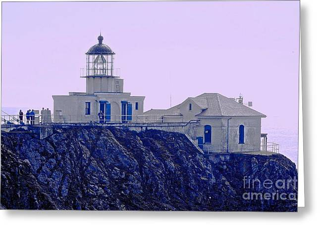 Pacific Ocean Prints Greeting Cards - Bonita Lighthouse Greeting Card by Kathleen Struckle