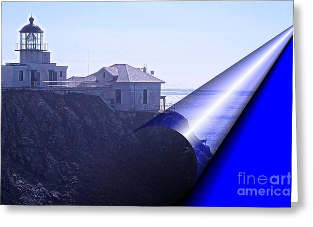 Abstract Nature Greeting Cards - Bonita Lighthouse Landscape Greeting Card by Kathleen Struckle