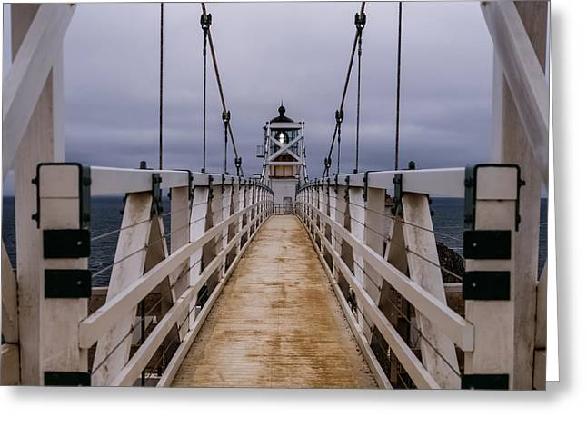 Bonita Point Greeting Cards - Bonita Point Lighthouse Greeting Card by Mike Ronnebeck