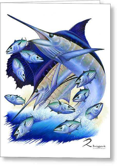 Marlin Tournaments Greeting Cards - Bonito Greeting Card by Rick Bogert