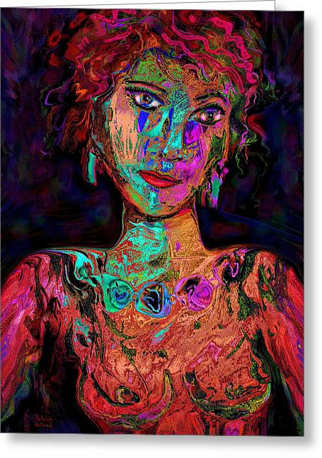 Good Woman Mixed Media Greeting Cards - Bonjour Greeting Card by Natalie Holland