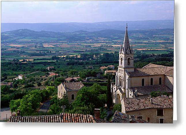 Provence Village Photographs Greeting Cards - Bonneiux, Provence, France Greeting Card by Panoramic Images