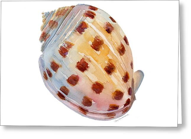 Pink Dots Greeting Cards - Bonnet Shell Greeting Card by Amy Kirkpatrick