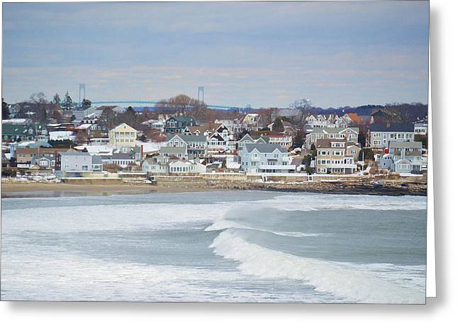 New England Village Greeting Cards - Bonnet Shores Greeting Card by Diane Valliere