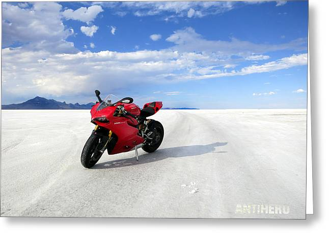 Bonneville Salt Flats 3 Greeting Card by AntiHero Panigale