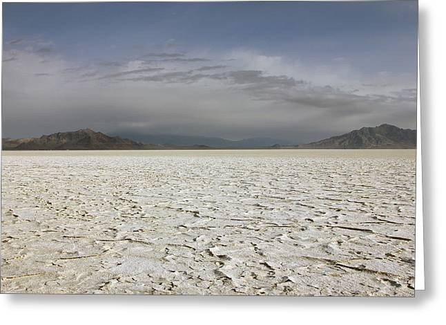 Desert Lake Greeting Cards - Bonneville Salt Flats Greeting Card by Johnny Adolphson