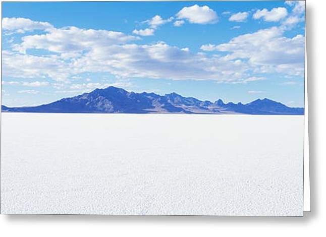 Salt Flat Images Greeting Cards - Bonneville Salt Flats, Utah, Usa Greeting Card by Panoramic Images
