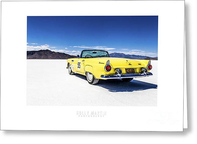 Speed Week Greeting Cards - Bonneville T-bird Greeting Card by Holly Martin