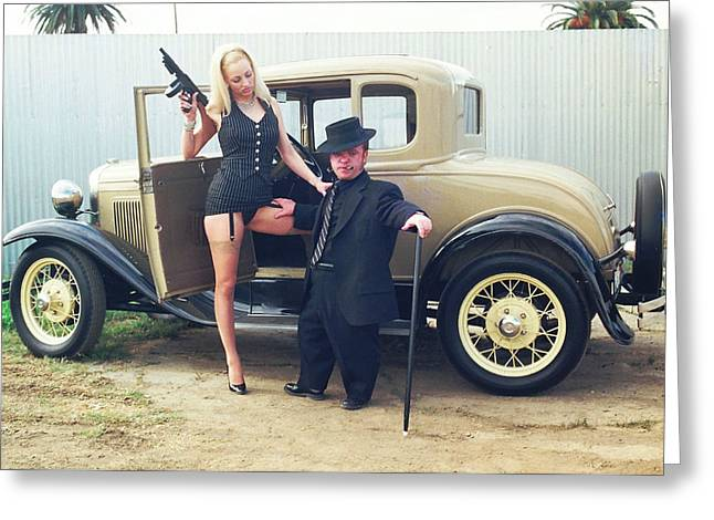 Tommie Greeting Cards - Bonnie and Clyde 19 Greeting Card by Liezel Rubin