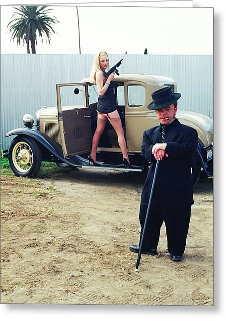 Tommie Greeting Cards - Bonnie and Clyde 22 Greeting Card by Liezel Rubin