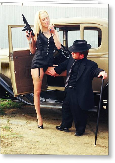 Tommie Greeting Cards - Bonnie and Clyde 32 Greeting Card by Liezel Rubin