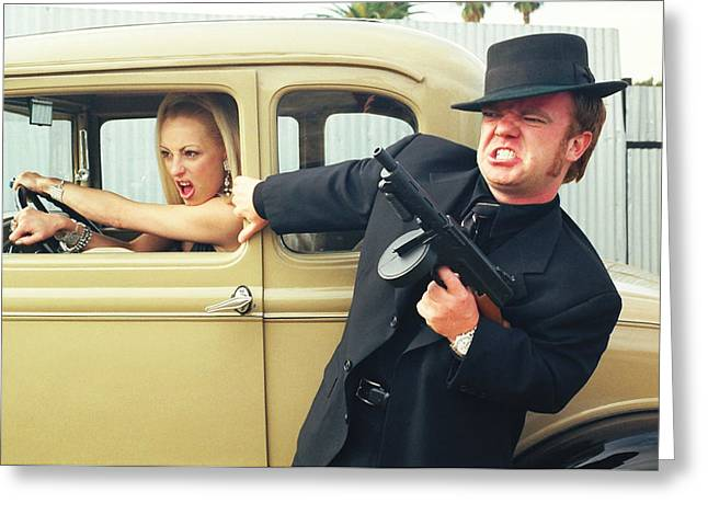 Tommie Greeting Cards - Bonnie and Clyde 42 Greeting Card by Liezel Rubin