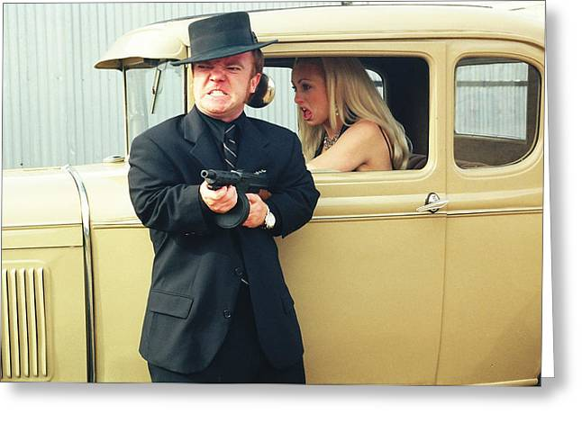 Tommie Greeting Cards - Bonnie and Clyde 48 Greeting Card by Liezel Rubin