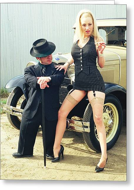 Tommie Greeting Cards - Bonnie and Clyde 58 Greeting Card by Liezel Rubin