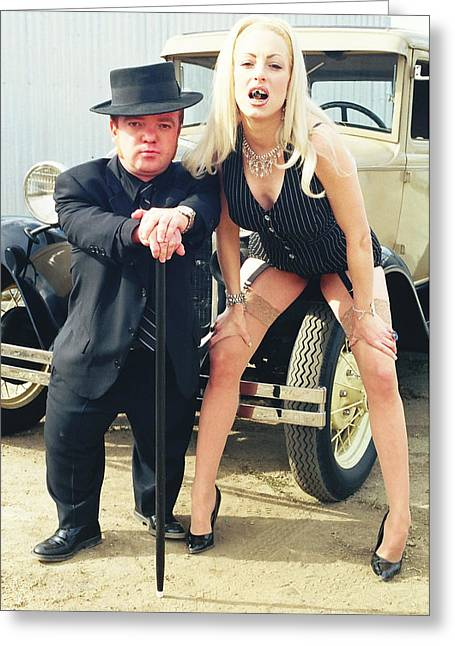 Tommie Greeting Cards - Bonnie and Clyde 65 Greeting Card by Liezel Rubin