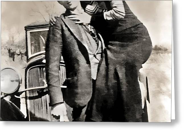 BONNIE and CLYDE - TEXAS Greeting Card by Daniel Hagerman