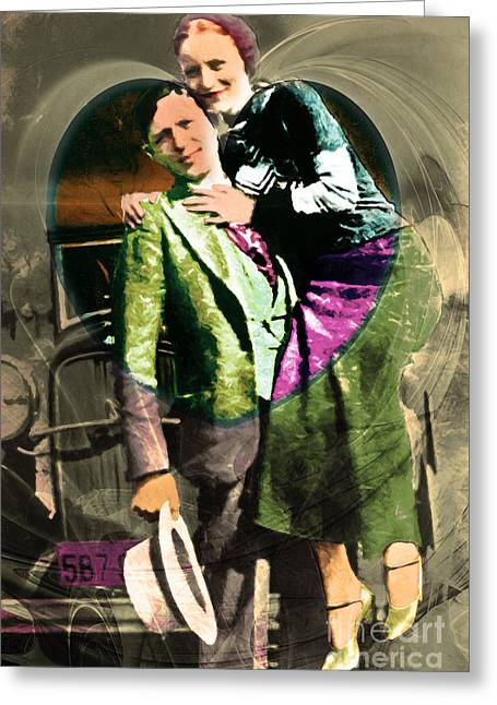 Most Greeting Cards - Bonnie Loves Clyde 20150523 v2 Greeting Card by Wingsdomain Art and Photography