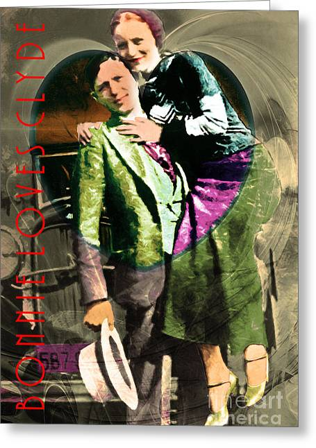 Most Greeting Cards - Bonnie Loves Clyde 20150523 with text v2 Greeting Card by Wingsdomain Art and Photography