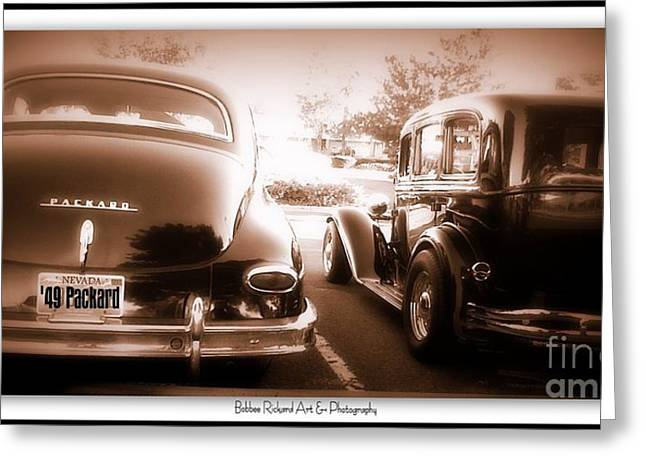 Print On Acrylic Greeting Cards - Bonnie n Clyde Greeting Card by Bobbee Rickard