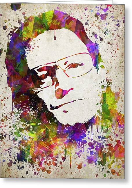 Kitchen Photos Greeting Cards - Bono in Color Greeting Card by Aged Pixel
