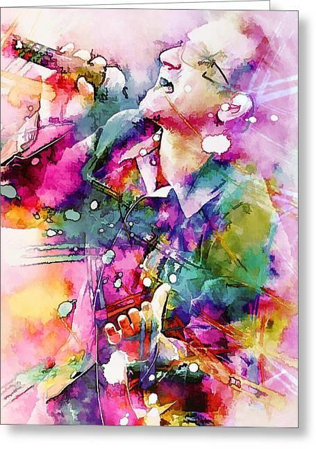 Bono Singing Greeting Card by Rosalina Atanasova
