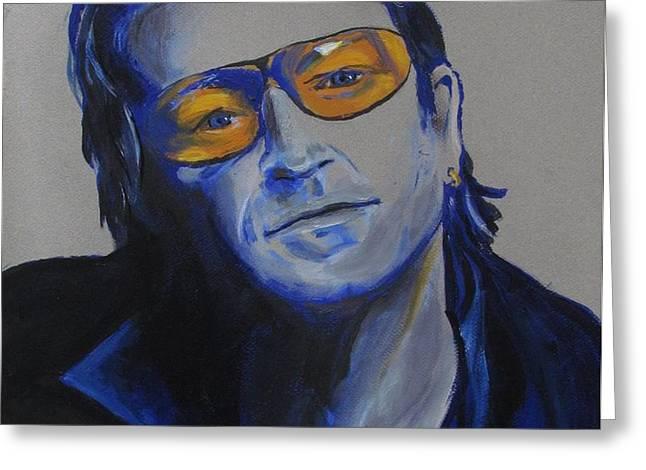 Bono U2 Greeting Card by Eric Dee