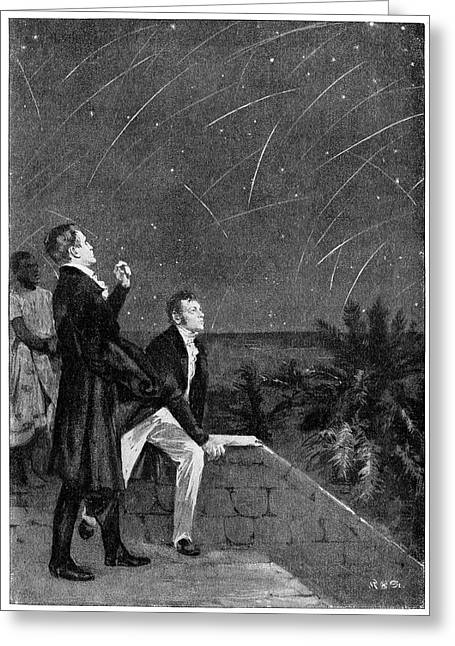 Bonpland And Humboldt Observing The Stars Greeting Card by Cci Archives