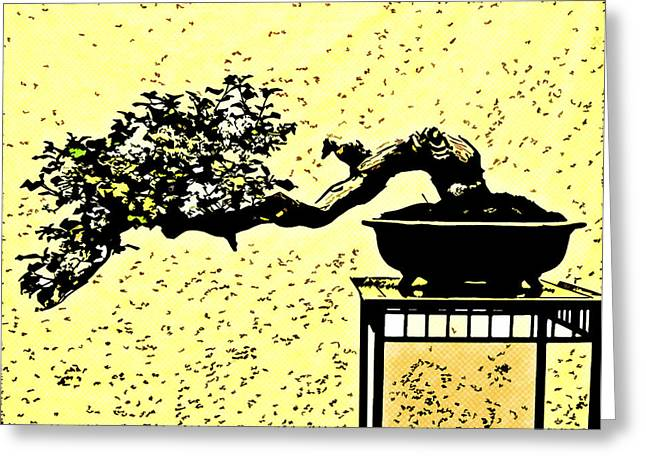 Shell Texture Greeting Cards - Bonsai In Art Form Greeting Card by MotionAge Designs