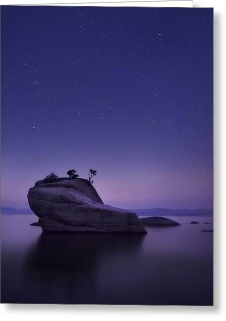Light Pollution Greeting Cards - Bonsai Island Greeting Card by Sean Foster