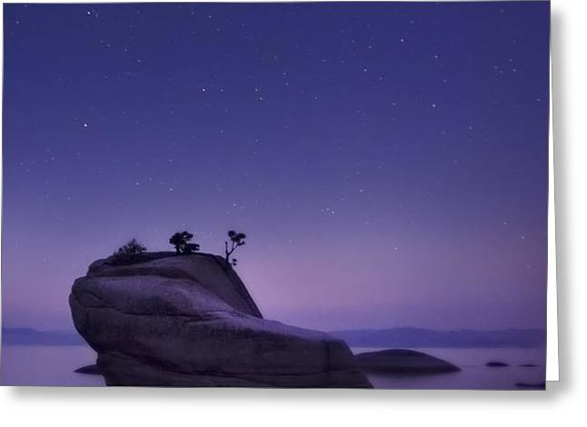 Bonsai Island Greeting Card by Sean Foster