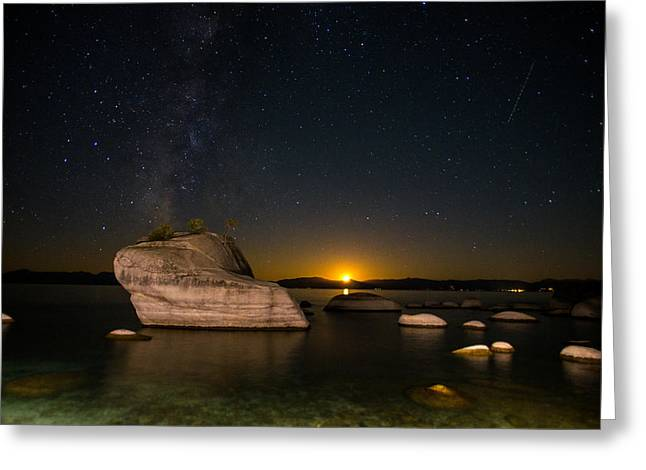 Incline Photographs Greeting Cards - Bonsai Rock Lake Tahoe Greeting Card by Scott McGuire