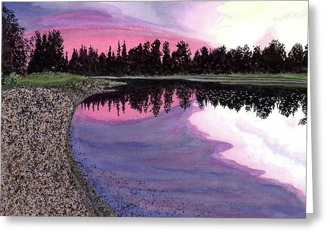 Reflection In Water Greeting Cards - Bonsettes Sunset Greeting Card by Joel Deutsch