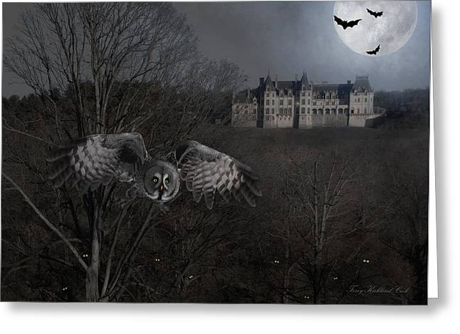 Frightening Castle Greeting Cards - Boo Greeting Card by Terry Kirkland Cook