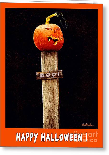 Boo... Greeting Card by Will Bullas