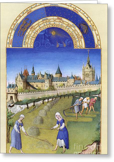 Serf Greeting Cards - Book Of Hours: June Greeting Card by Granger