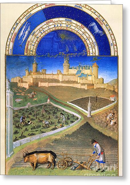 Book Of Hours: March Greeting Card by Granger