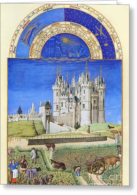 Book Of Hours: September Greeting Card by Granger