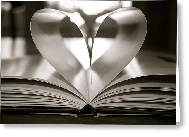 Jennifer Lamanca Kaufman Greeting Cards - Book of Love Greeting Card by Jennifer Lamanca Kaufman